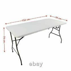 6ft Pliant Trestle Table Portable Catering Camping Pique-nique De Service Lourd Bbq Party