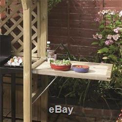 Abris De Barbecue En Plein Air Gazebo De Jardin Siège Plié Barbecue Cabanon Table En Bois