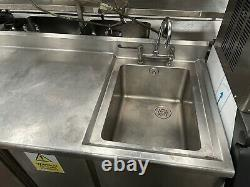 Armoire De Rangement De Table En Acier Inoxydable Simple Sinkprep De Poids Lourd £400 + Cuve