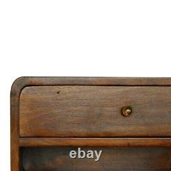 Art Déco Style Curved Chestnut Wall Mounted Bedside Table Open Slot In Dark Wood Art Déco Style Curved Chestnut Wall Mounted Bedside Table Open Slot In Dark Wood Art Déco Style Curved Chestnut Wall Mounted Bedside Table Open Slot In Dark Wood Art Déco Style Curved