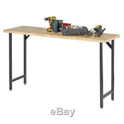 Banc De Travail En Bois Table Top Garage Atelier Poste De Travail Heavy Duty Tout Cadre En Acier