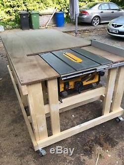 Banc De Travail Pour Scie Sur Table Heavy Duty - Roulettes - Fabriqué Sur Commande