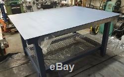 Banc De Travail Très Résistant D'atelier De Jardin De Table En Acier Solide, Table De Soudure