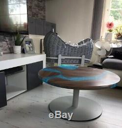 Belle Table Basse Résistante En Bois De Rivière De Résine Époxyde Résistante