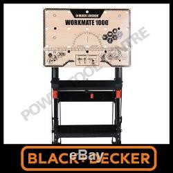 Black & Decker Recon Wm1000 Workmate Heavy Duty Pliant Workbench Ablocage Table