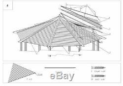Bois Gazebo, Pavillon, Hot Tub, Patio Octogonale 3,5 M Ex Diamètre 4.2m