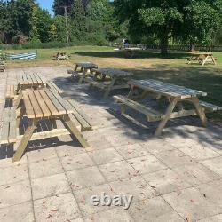 Bois Traité Extra Lourd Jardin Pique-nique Pub Patio Bench Table 4ft 5ft 6ft