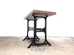 Bureau Vintage Industriel En Bois De Recouvert MID Century Heavy Duty