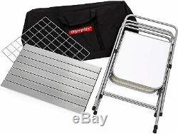 Camco Deluxe Pliant Grill Table Pour Pique-niquer Talonnage Set Camping Quick Up