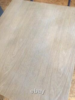 Cast Iron Heavy Duty Solid Oak Table 700mm X 600mm Square Bistro Restaurant Cafe