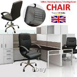 Chaise De Bureau De Bureau De Luxe De Gestionnaire D'ordinateur Faux Cuir Réglable Pivotant