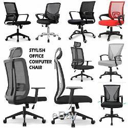 Chaise De Bureau Réglable Mesh Bureau D'ordinateur Pivotant Exécutif Siège En Tissu Retour