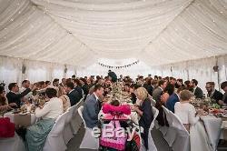 Chapiteau De Gala, Mariage Mis En Place. Y Compris Les Tables, Chaises, Couvertures, Doublure, Lumières