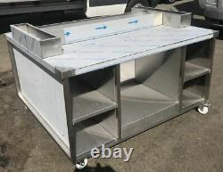 Chicken Display Speed Pack Table Heavy Duty Castors En Acier Inoxydable