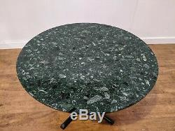 Commercial Grade Marbre Vert Heavy Duty Table À Manger Ronde 1100mm Restaurant