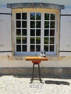 Console Table / Bar Salvage Industriel Roue De Broyage À L'origine Lourde
