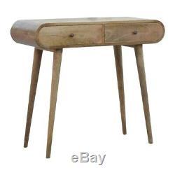 Console Table Ronde Bureau Avec Deux Tiroirs Scandinaves Style MID Century