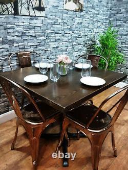 Contrat Lourd De Qualité Restaurant En Bois Pub Bar Bistro Cafe Table 850mm