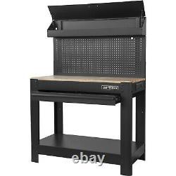 Craftsman 45 Workbench Avec Tiroir Heavy Duty Garage Tool Workshop Wood Table