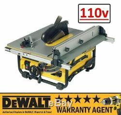 Dewalt Dw745 1700w 110v 10 254mm Heavy Duty Compact Table Rip Saw Rw