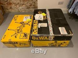 Dewalt Dw745 Heavy Duty Scie Léger Avec De7400 Jambes Kit Dw745rs 240v