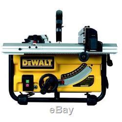Dewalt Dw745 Scie À Table Ultra-résistante Avec Kit De Pattes De7400 240v Dw745rs