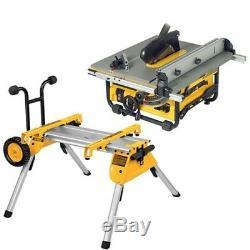 Dewalt Dw745rs 110v Portable Table Heavy Duty Scie Avec Support De7400