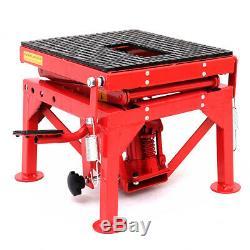 Dkiei 300lb Moto Scissor Lift Jack Table Hydraulique Vélo Réparation Palan Stand