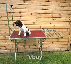 Doghealth Grooming Table Se Convertit Pour Montrer Chariot Avec Des Roues Anti-perforation
