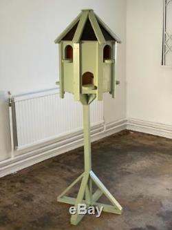Dovecote Bird House Peint Vert Sauge Jardin Mangeoire À Oiseaux Table Colombe Maison