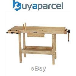 Draper Heavy Duty Bois Massif Laqué Charpentiers Workbench Table Avec Le Vice-83440