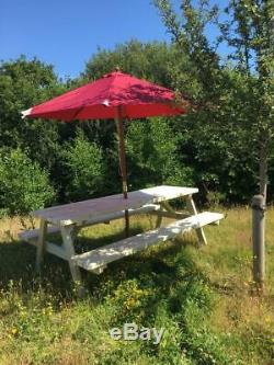 Elsford Heavy Duty Pub A-frame En Bois De Style Pique-nique Table / Table De Jardin