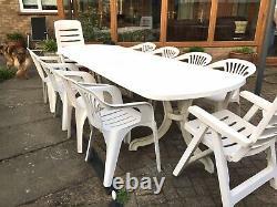 Ensemble De Meubles De Table Heavy Duty Garden Avec 8 Fauteuils Et 2 Fauteuils Inclinables