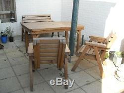 Ensemble De Mobilier De Jardin En Bois Pour Patio, Table, Bancs Et Chaises (very Heavy Duty)