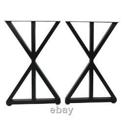 Ensemble Industriel De 2 Pieds De Table En Métal D'acier Salle À Manger / Bench / Bureau / Desk Jambes 45x71cm