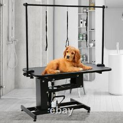 Extra Grande Hauteur Réglable De Stylo Hydraulique Table De Grooming De Chien Lourd De Service Z Lift