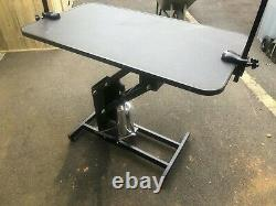 Extra Grande Hauteur Réglable Hydraulic Dog Grooming Table Heavy Duty Z Lift Uk