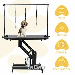 Extra Large Hauteur Ajustable Dog Grooming Table Hydraulique Heavy Duty Z-lift Uk