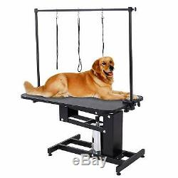Extra Large Heavy Duty Hydraulique Pet Dog Grooming Table Station Arm Bar 3 Leash
