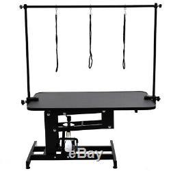 Extra Large Heavy Duty Toilettage Pour Chien Professionnel Table Hydraulique H Bar & Bras Leash