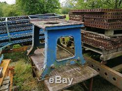 Fonte Énorme Originale Base De Table Industriel Très Lourd Devoir