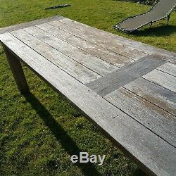 Grande Table De Jardin Robuste En Teck De 10 '
