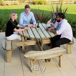 Grande Table De Pique-nique Commerciale Résistante 8 Sièges De Jardin Meubles De Jardin