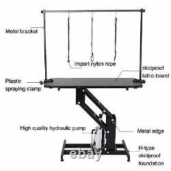 Grande Table Hydraulique De Toilettage De Crabot D'animal Familier Avec Le Bras De Barre H 3 Leash Heavy Duty R-u