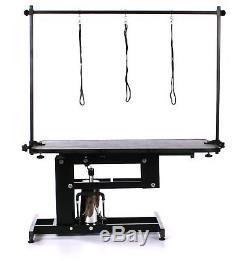 Grande Table Hydraulique Professionnelle De Toilettage De Chien De Pedigroom Avec La Barre De H