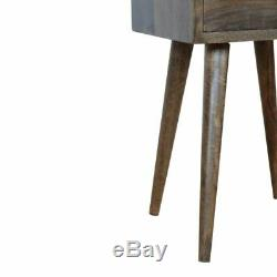 Gris Scandinave Washed Fini Raffinez Nuit / Side Table / Chevet