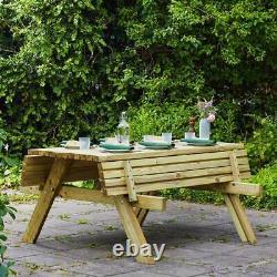 Harrier En Bois De Pique-nique Table Lettre-duty 4-seater Bench Meubles De Jardin/patio