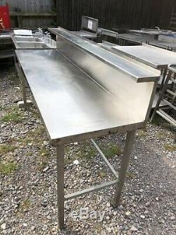 Heavy Duty 2 M De Large X 65cm Préparation Profonde En Acier Inoxydable Table Avec Gap Appliance