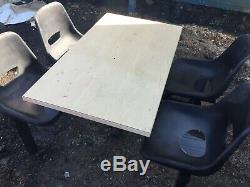 Heavy Duty 4 Seat Cantine Fast Food Table Et Chaises