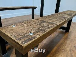 Heavy Duty Bespoke En Bois 6 Seat Jardin Patio Table De Pique-nique Pub Set Banc